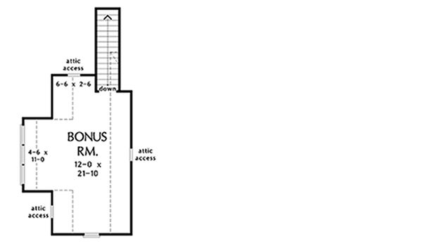 Craftsman Style House Plan - 3 Beds 2 Baths 1622 Sq/Ft Plan #929-1027 Floor Plan - Other Floor Plan
