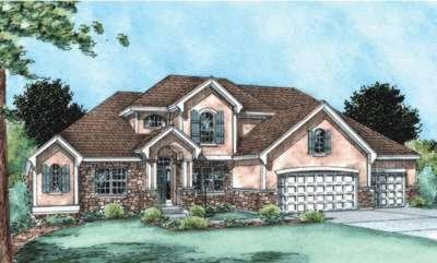 Traditional Exterior - Other Elevation Plan #20-1788 - Houseplans.com