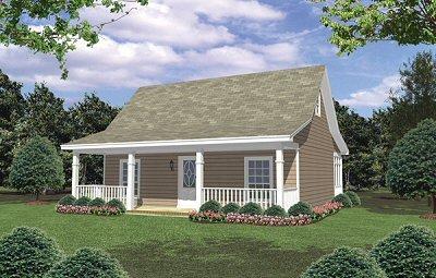 Cottage Exterior - Front Elevation Plan #21-213 - Houseplans.com