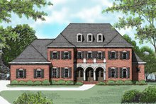 European Exterior - Front Elevation Plan #413-820