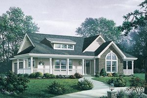 Farmhouse Exterior - Front Elevation Plan #57-345