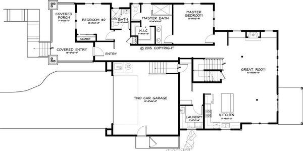 Dream House Plan - Craftsman Floor Plan - Main Floor Plan #895-45