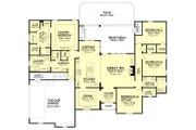 European Style House Plan - 4 Beds 2.5 Baths 2506 Sq/Ft Plan #430-103 Floor Plan - Main Floor