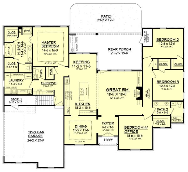 European Floor Plan - Main Floor Plan Plan #430-103