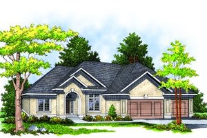Traditional Exterior - Front Elevation Plan #70-280
