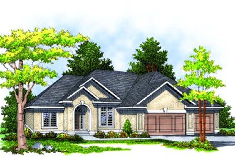 Traditional Style House Plan - 3 Beds 2 Baths 2007 Sq/Ft Plan #70-280 Exterior - Front Elevation
