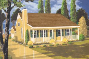 Country Exterior - Front Elevation Plan #3-299