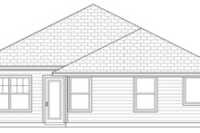 Cottage Exterior - Rear Elevation Plan #84-493