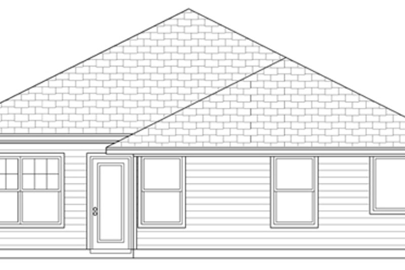 Cottage Exterior - Rear Elevation Plan #84-493 - Houseplans.com