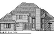Traditional Style House Plan - 4 Beds 2.5 Baths 2830 Sq/Ft Plan #70-454 Exterior - Rear Elevation
