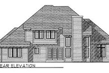 House Plan Design - Traditional Exterior - Rear Elevation Plan #70-454