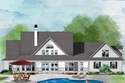 Country Style House Plan - 5 Beds 4.5 Baths 3352 Sq/Ft Plan #929-288 Exterior - Rear Elevation