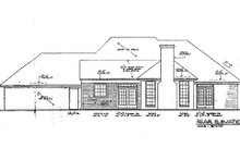 European Exterior - Rear Elevation Plan #310-903