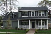 Colonial Style House Plan - 3 Beds 2.5 Baths 1604 Sq/Ft Plan #124-360 Exterior - Front Elevation