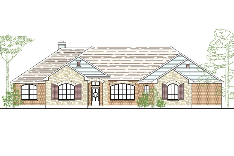 Architectural House Design - European Exterior - Front Elevation Plan #80-162