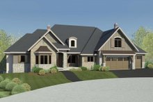 European Exterior - Front Elevation Plan #920-60