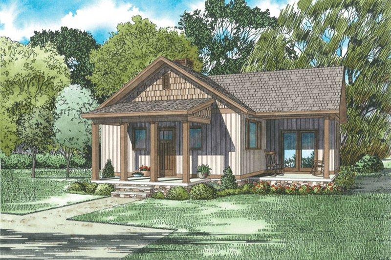 Craftsman Style House Plan - 2 Beds 1 Baths 859 Sq/Ft Plan #17-2606