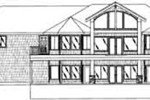 House Plan Design - Traditional Exterior - Rear Elevation Plan #117-344