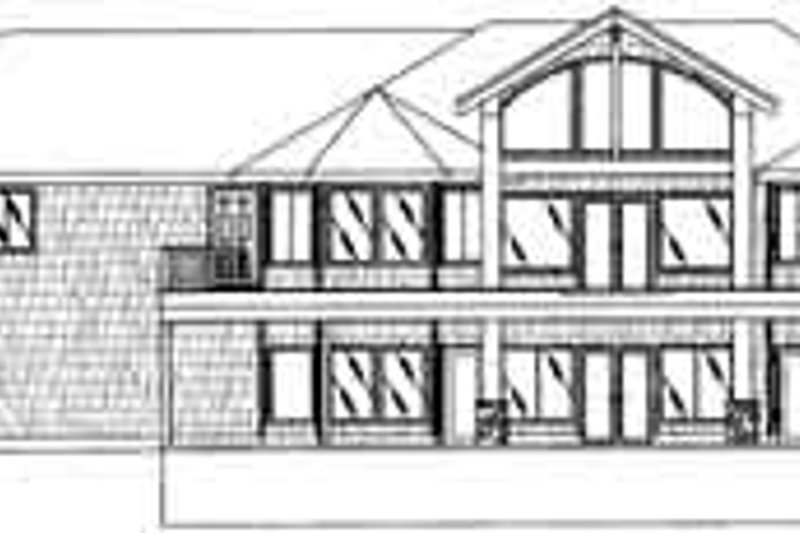Traditional Exterior - Rear Elevation Plan #117-344 - Houseplans.com