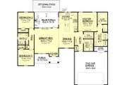 Farmhouse Style House Plan - 3 Beds 2 Baths 1609 Sq/Ft Plan #430-77 Floor Plan - Main Floor Plan