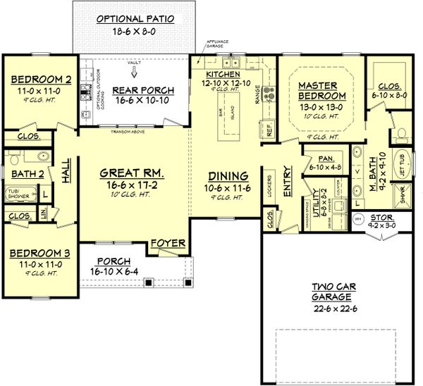 Architectural House Design - 1600 square foot craftsman