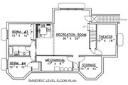 Country Style House Plan - 4 Beds 3.5 Baths 4022 Sq/Ft Plan #117-522 Floor Plan - Lower Floor Plan
