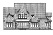Craftsman Style House Plan - 4 Beds 4.5 Baths 3682 Sq/Ft Plan #413-813 Exterior - Rear Elevation
