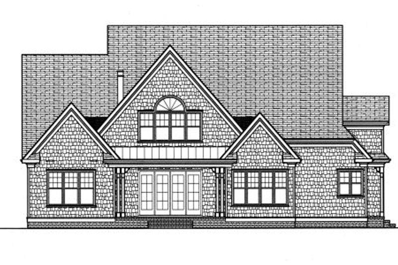 Craftsman Exterior - Rear Elevation Plan #413-813 - Houseplans.com