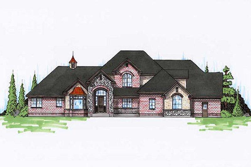 House Plan Design - European Exterior - Front Elevation Plan #5-216