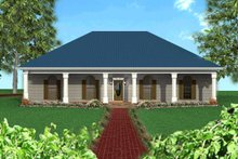 Southern Exterior - Front Elevation Plan #44-120