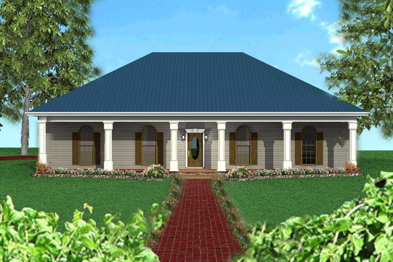 Southern Exterior - Front Elevation Plan #44-120 - Houseplans.com