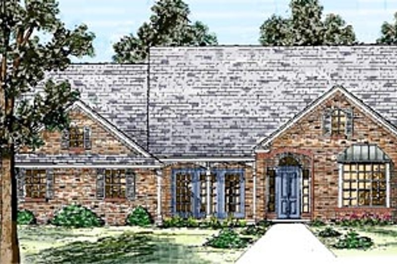 Traditional Style House Plan - 3 Beds 2.5 Baths 2173 Sq/Ft Plan #52-109 Exterior - Front Elevation