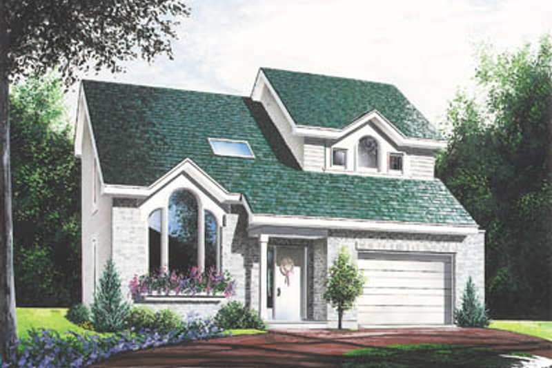 Modern Style House Plan - 3 Beds 2 Baths 1489 Sq/Ft Plan #23-208 Exterior - Front Elevation