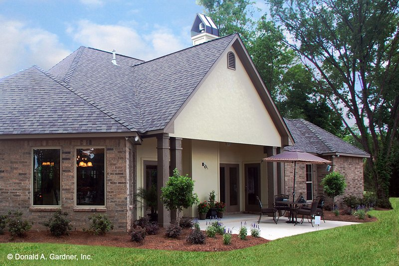 European Exterior - Rear Elevation Plan #929-904 - Houseplans.com