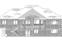 Home Plan - Traditional Exterior - Rear Elevation Plan #5-256
