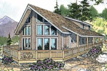 Contemporary Exterior - Front Elevation Plan #124-456