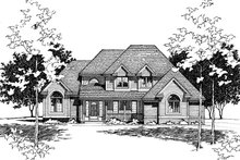 Home Plan Design - Traditional Exterior - Other Elevation Plan #20-2006