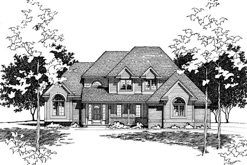 Traditional Exterior - Other Elevation Plan #20-2006 - Houseplans.com