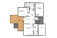 Craftsman Floor Plan - Lower Floor Plan Plan #895-92
