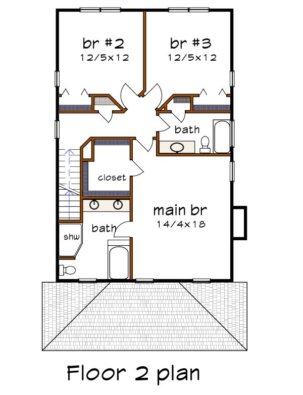Dream House Plan - Craftsman Floor Plan - Upper Floor Plan #79-301