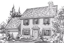 Home Plan - Colonial Exterior - Front Elevation Plan #320-446