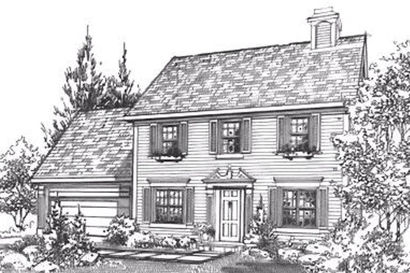 Colonial Exterior - Front Elevation Plan #320-446
