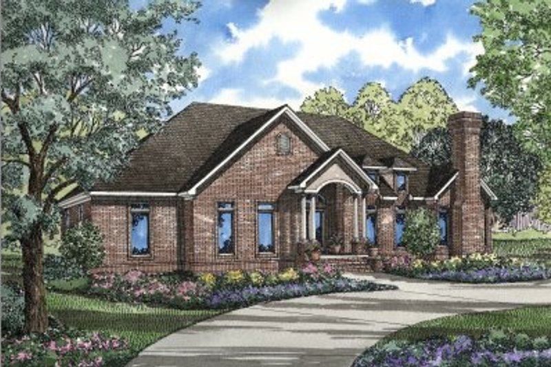 Home Plan - Traditional Exterior - Front Elevation Plan #17-1023