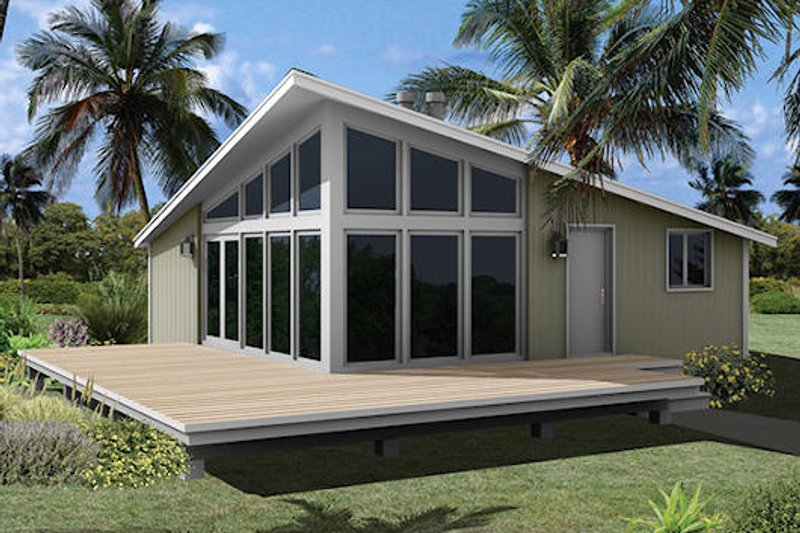 Contemporary Exterior - Front Elevation Plan #57-489