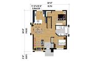 Contemporary Style House Plan - 2 Beds 1 Baths 969 Sq/Ft Plan #25-4292 Floor Plan - Main Floor Plan