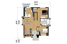 Contemporary Floor Plan - Main Floor Plan Plan #25-4292