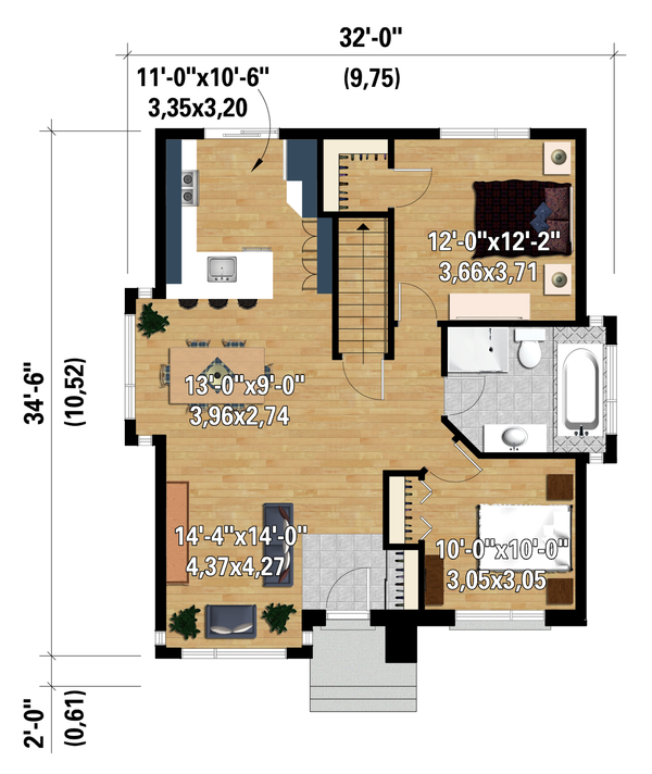 House Design - Contemporary Floor Plan - Main Floor Plan #25-4292
