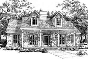 Cottage Exterior - Front Elevation Plan #120-146