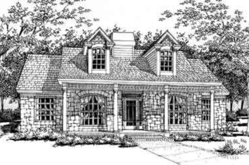 Dream House Plan - Cottage Exterior - Front Elevation Plan #120-146