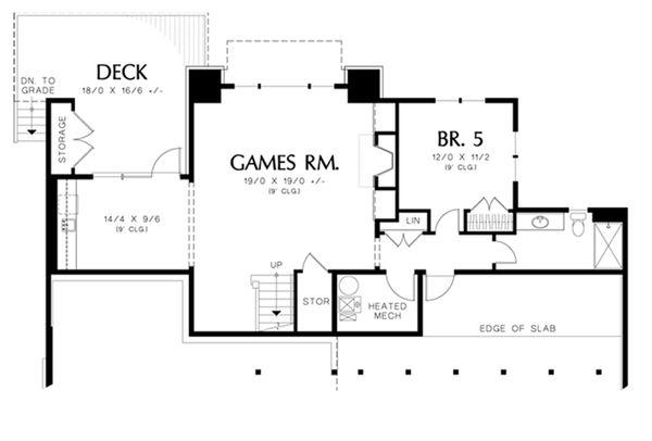 Prairie Floor Plan - Lower Floor Plan Plan #48-464